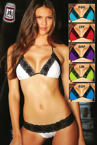 Lacey Triangle and Scrunch Bottom Bikini Mix and Match