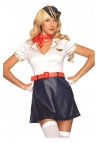 Retro Flight Attendent Costume