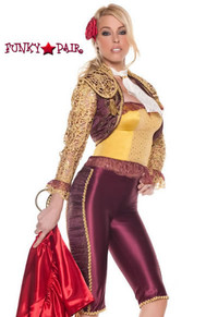 M0027, Matador costume includes a pants, camisole, bolero jacket and neckpiece