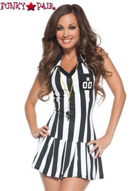 M9029, Sexy Referee costume includes a dress, socks and whistle
