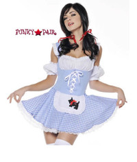 M7008, Dorothy costume includes a Lace up dress and sleeves