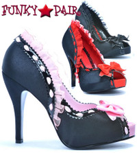 BP415-Libera, 4 Inch High Heel Peep Toe Pump Made By Bettie Page Shoes