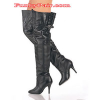 LEGEND-8890, Pull-on Thigh Boot with Buckle sz 6-16 * Made by PLEASER Shoes