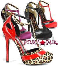 BP517-Gypsy, 5 Inch High Heel T-Strap Sandal