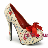 Teeze-12-3, 5.75 Inch High Heel with 1.75 Inch Platform with Satin Bow ** NEW ARRIVAL