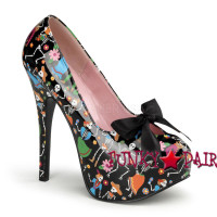 Teeze-12-4, 5.75 Inch High Heel with 1.75 Inch Platform with Satin Bow