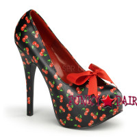 Teeze-12-6, 5.75 Inch High Heel with 1.75 Inch Platform with Satin Bow