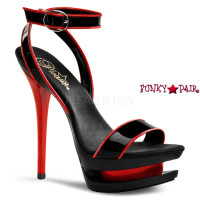 Blondie-631-2, 6 Inch High Heel with 1.5 Inch Platform Ankle Wrap Dual Sandal