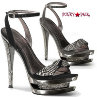 Fascinate-633, 6 Inch High Heel with 1.5 Inch Dual platform Ankle Wrap Sandal with Front Knot