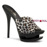Blondie-601LP, 6 Inch High Heel wtih 1.5 Inch Dual Platform Leopard Print