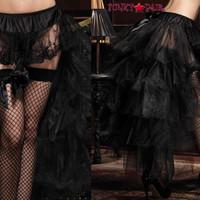 A1698, Long Tulle Bustle Skirt