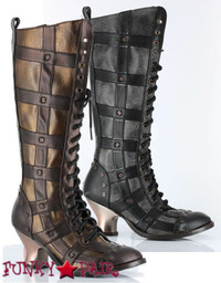Dome, 2.5 Inch high heel ABS Retro Heel Knee High Boot