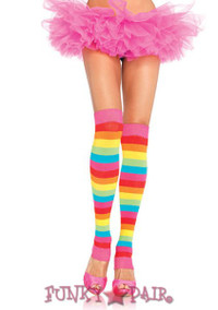 3922, Rainbow Leg Warmers