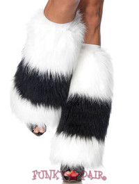 Two Tone Furry Boot Cover * 3926