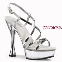 Sweet-413, 5.5 inch high heel with 1.5 inch platform Slingback Criss Cross Strap Cone Heel Sandal