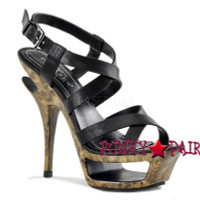 Deluxe-636, 5.5 Inch High Heel with 1.75 Inch Platform Ankle Wrap Sandal
