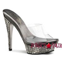 Gleam-501, 5.5 Inch High Heel with 1.5 Inch Platform Slide Sandal
