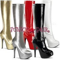 Teeze-2000, 5.75 Inch High Heel with 1.75 Inch Platform Knee High Boots * Made by Bordello