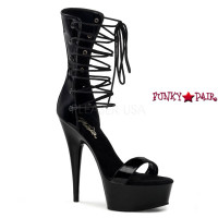 Delight-600-32, 6 inch high heel with 1.75 inch Platform with Lace up Ankle Strap
