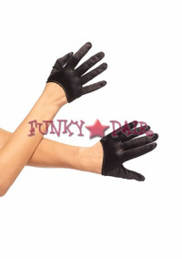 2137, Cropped Satin Gloves
