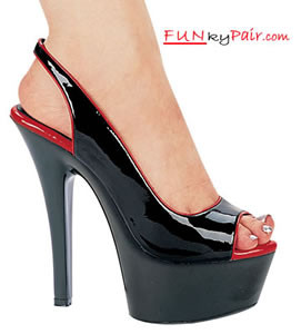 601-Lucia, 6 Inch High Heel with 1.75 Inch Platform two-tone shoes Made by ELLIE Shoes