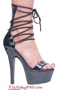 601-Madison, 6 Inch High Heel with 1.75 Inch PLatform Exotic Dancer  Shoes Made by ELLIE Shoes
