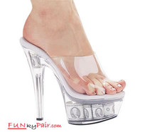 601-Money, 6 Inch High Heel with 1.75 Inch Platform Dancer Heel Made by ELLIE Shoes