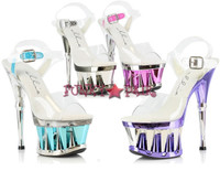 629-CLARITY, 6 Inch High Heel with 1.75 Inch Platform Made by ELLIE Shoes