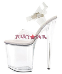 850-BROOK, 8 Inch Stiletto High Heel with 3.75 Inch Platform Sandal Made By ELLIE Shoes