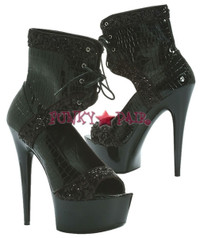 609-VIPER, 6 Inch Stiletto High Heel with 1.75 Inch Platform Shoes * Made by ELLIE Shoes