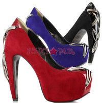 BP575-CHERYL, 5 Inch High Heel with 1 inch Platform Velvet pump
