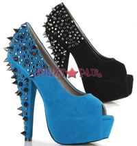 BP653-NIKOLETTE, 6 Inch High Heel with 1.75 Inch Platform with Metallic Adornment