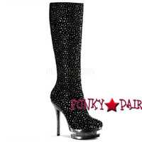 6 Inch Stiletto Heel Rhinestones Knee High Boots * Fantasia-2010R