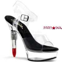 Rouge-608, 5.5 Inch High Heel with 1.5 Inch Platform Lipstick Heel Ankle Strap