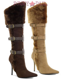 Viking-102, 4.25 Inch High Heel Knee Boots
