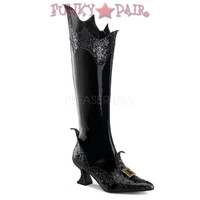 Witch-101, 2.5 Inch high Heel  Pointy Toe Knee Boot