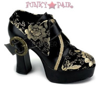 Exotica-60, 4 Inch High Heel Oxford with flower prints