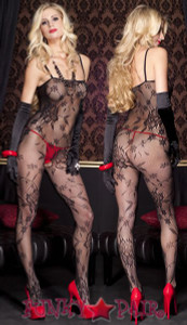 Floral Bouquet Lace Bodystocking * ML-1444
