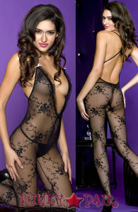 Deep V Cross Back Bodystocking * ML-1414
