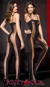 Sheer and Opaque Bodystocking * ML-1465