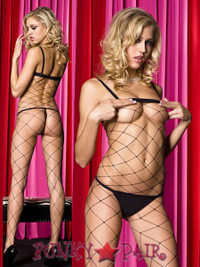 Spandex Big Diamond Net Bodystocking * ML-1932