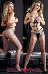Diamond Peek-A-Boo Bodystocking * ML-1426