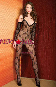 Bow Lace Bodystocking * ML-1271