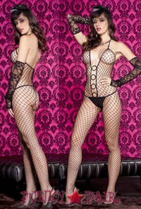Halter Neck Bodystocking ML-1120