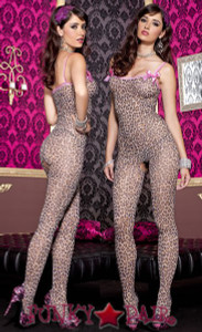 Leopard Print Bodystocking * ML-1112