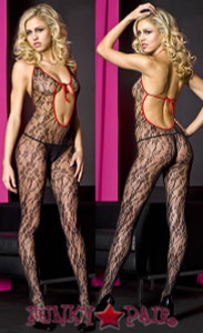 Halter Lace Bodystocking * ML-1456