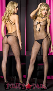 Fishnet Keyhole Back Bodystocking * ML-1450