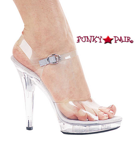 mbrook 5 inch high heel clear wedding shoes  funkypair