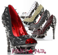 Talon, 5 Inch High Heel Pump with Metallic Spikes