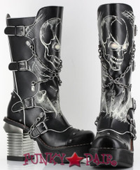 Spawn, 3.5 Inch Chunky High Heel Steampunk Boots